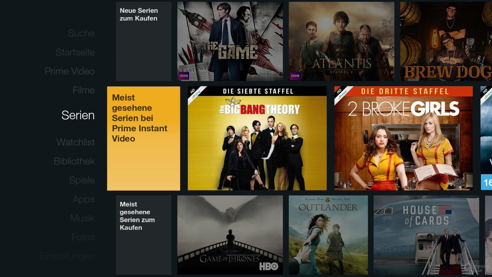 Amazon Fire TV Stick – Serien