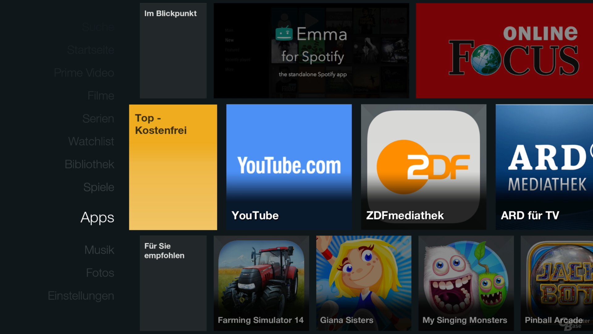 Amazon Fire TV Stick – Apps