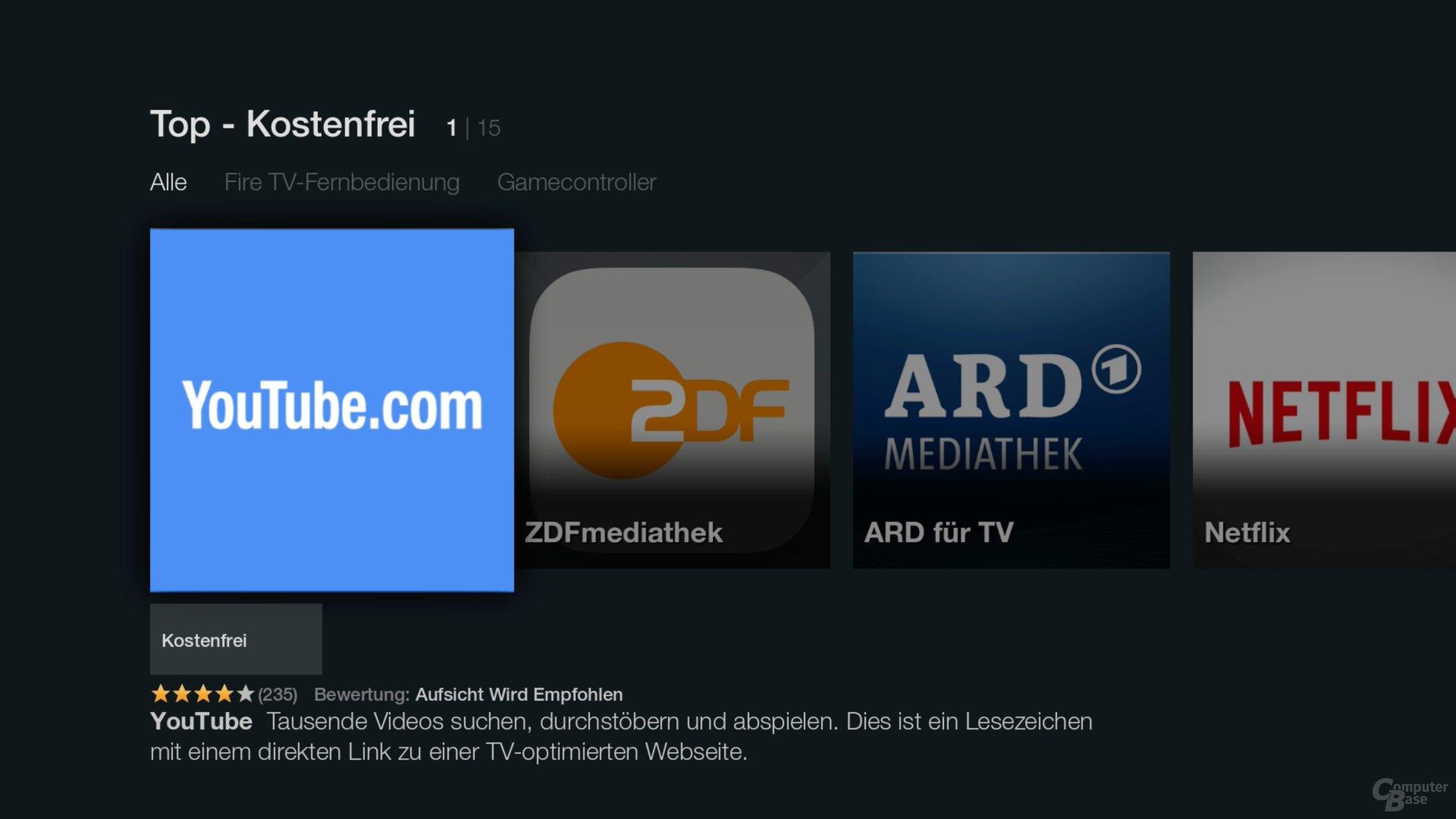 Amazon Fire TV Stick – Mediatheken, Netflix und YouTube