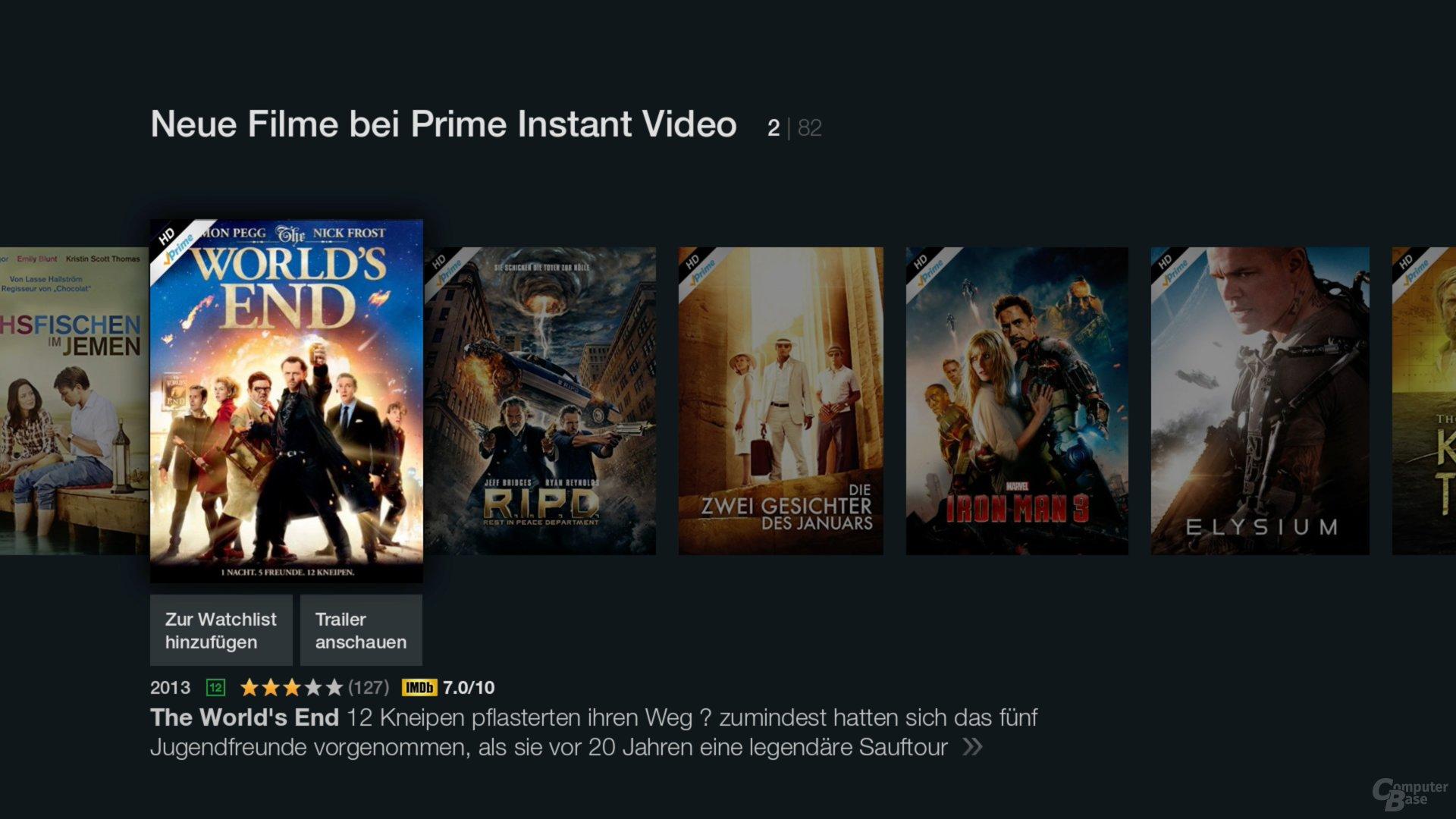 Amazon Fire TV Stick – Neue Filme bei Prime Instant Video