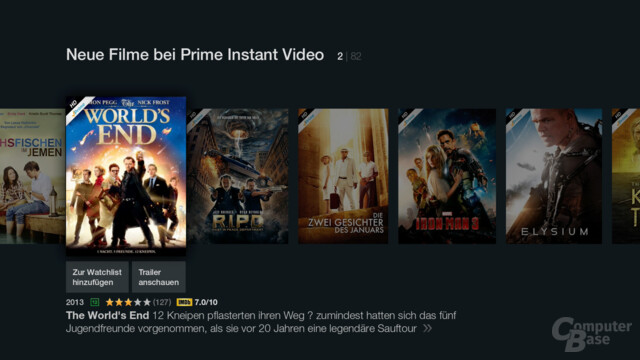 Amazon Fire TV Stick – Neue Filme bei Prime Instant Video