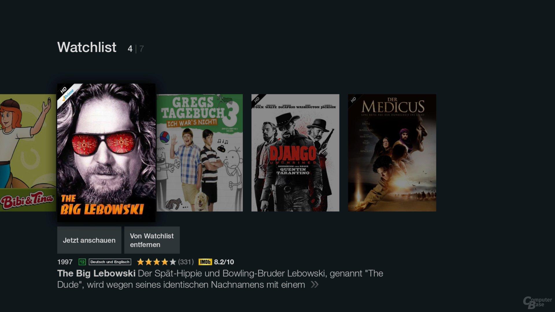 Amazon Fire TV Stick – Die Watchlist