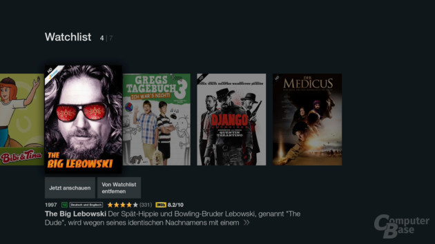 Amazon Fire TV Stick – Die Watchlist