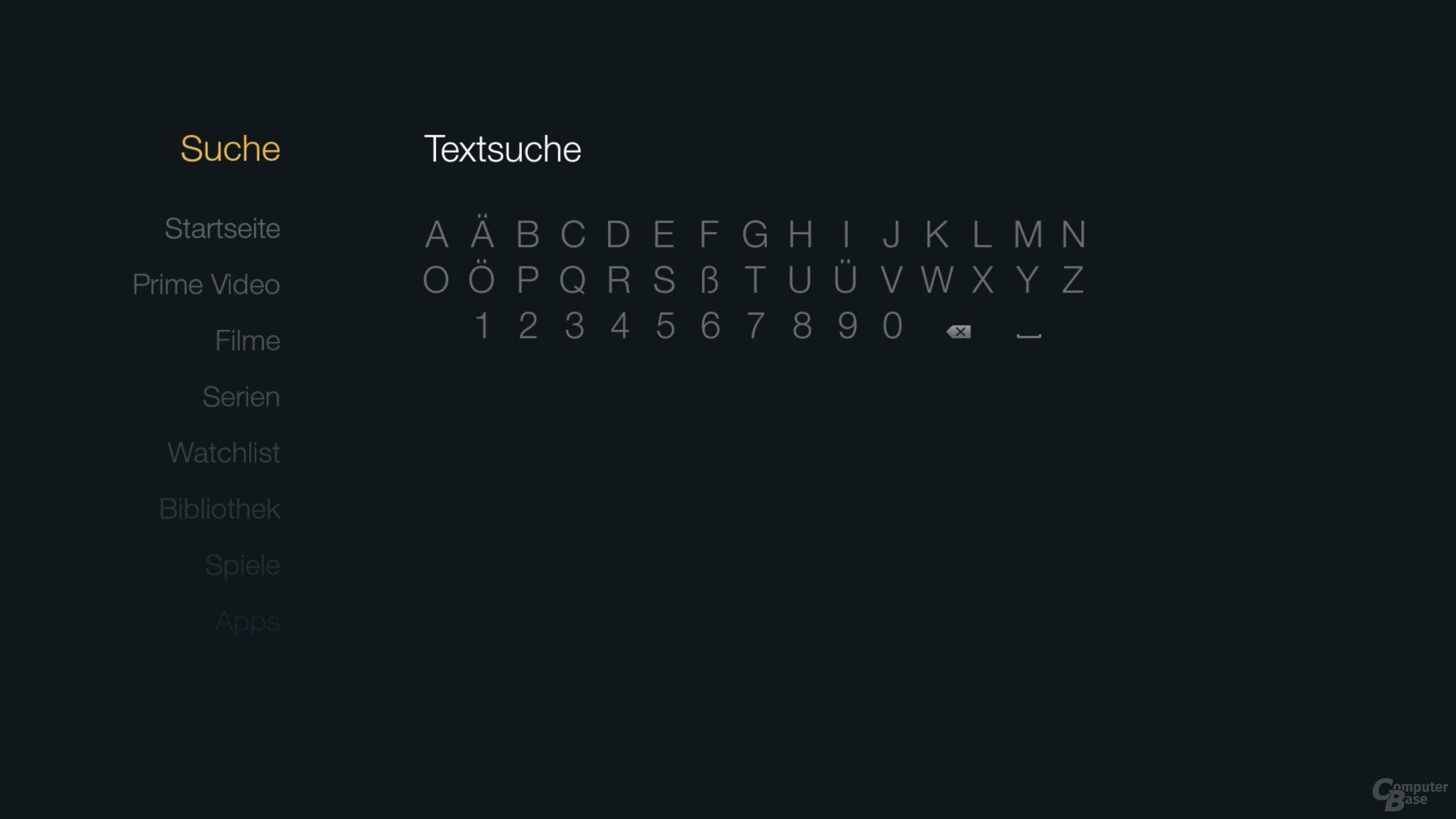 Amazon Fire TV Stick – Textsuche per Fernbedienung