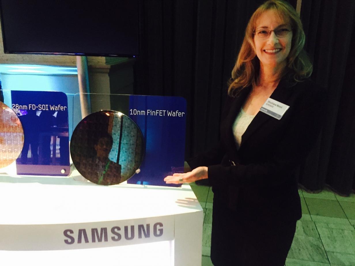 Samsung-Wafer mit 10-nm-Testchips