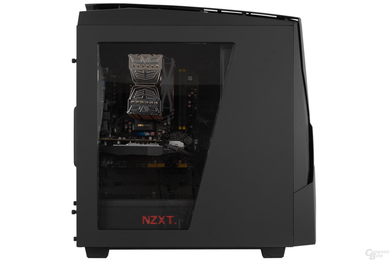 NZXT Noctis 450 – Testsystem mit geschlossener Seite