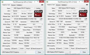 GPU-Z vom 7850K vs. 7870K