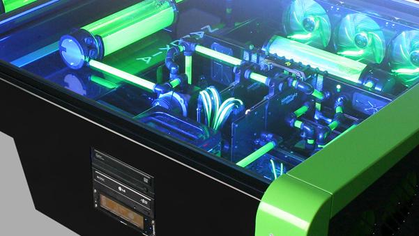Tischgehäuse: Nanoxia baut zwei X99-Rechner in ein Möbelstück