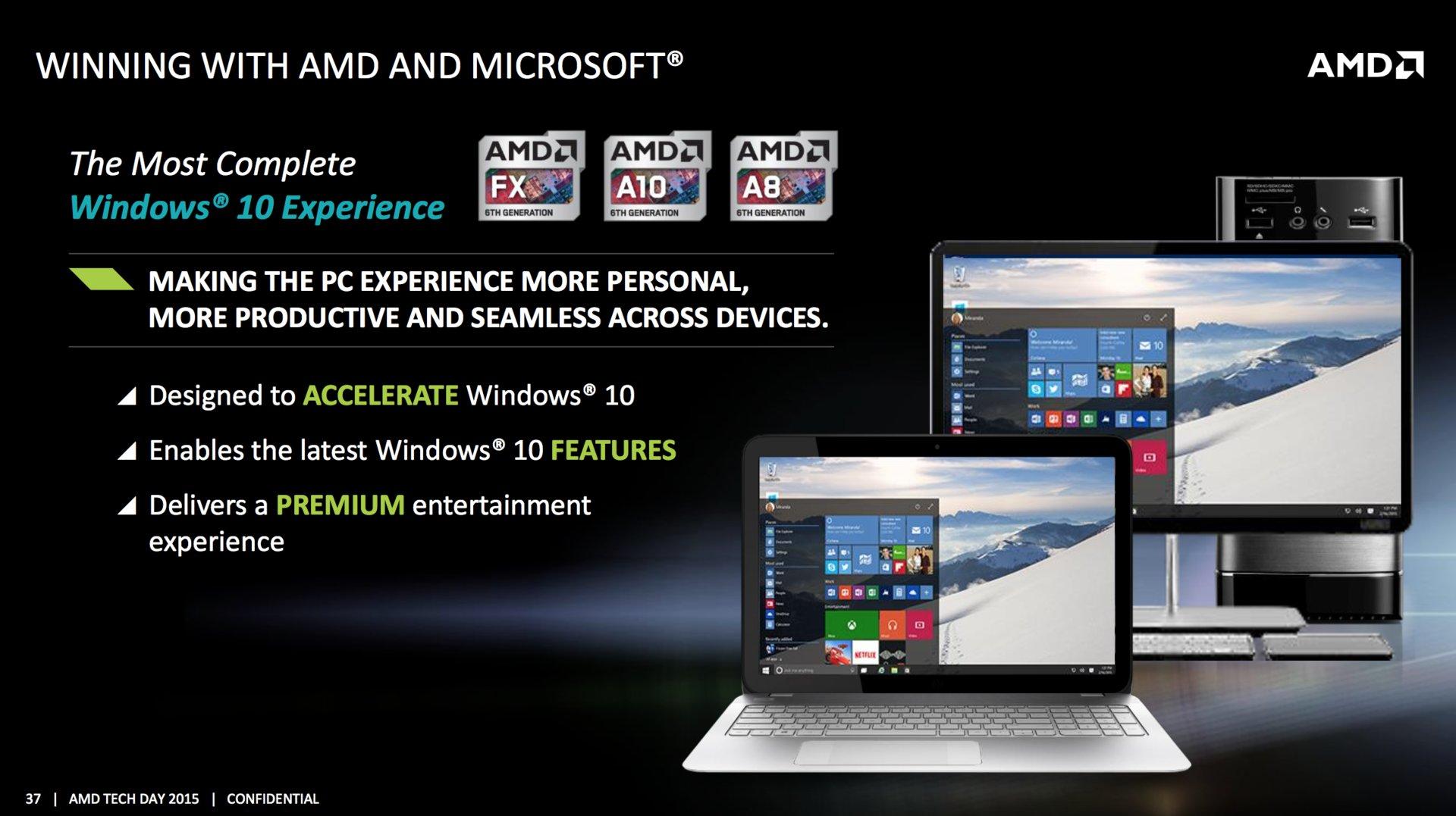 AMD will mit Windows 10 punkten