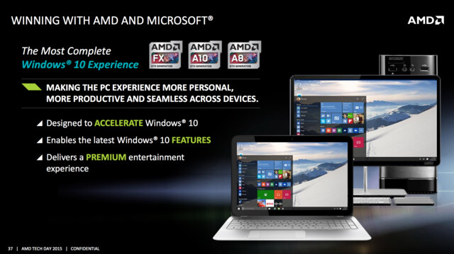 AMD will mit Windows 10 punkten