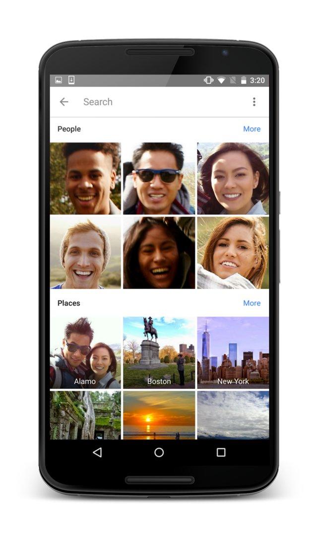 Google Fotos – Sortierung nach Personen und Orten