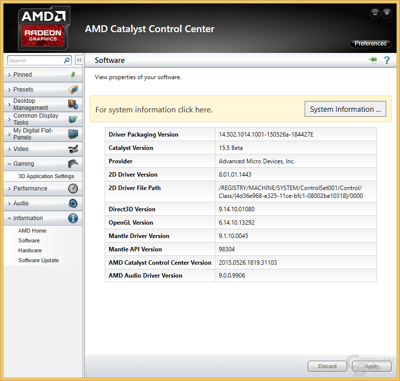 AMD Catalyst 15.5 – CCC