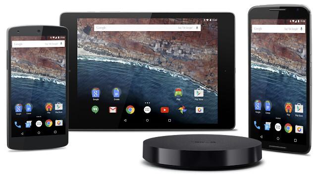 Nexus-Geräte, für die es die Developer Preview von Android M gibt