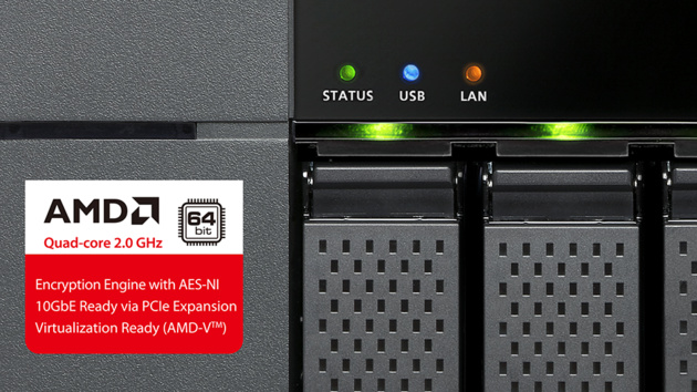 QNAP TS-563: AMD-Quad-Core-SoC und PCIe-Slot für 10-Gbit-Netzwerkkarte