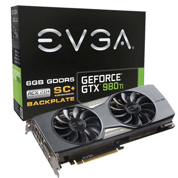 EVGA GeForce GTX 980 Ti ACX 2.0+ SuperClocked+ mit Backplate