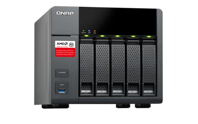 QNAP TS-563 – NAS mit AMD-SoC der G-Serie und PCIe-Steckplatz