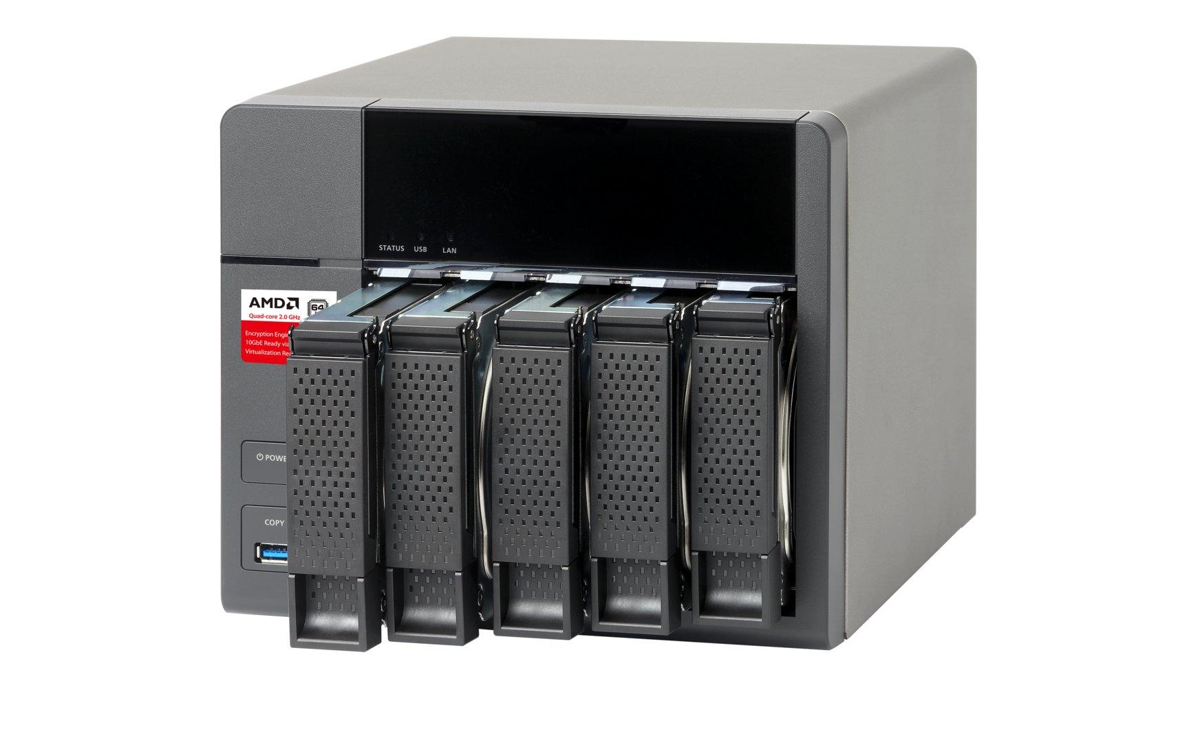 QNAP TS-563 – Netzwerkspeicher mit fünf Festplatteneinschüben