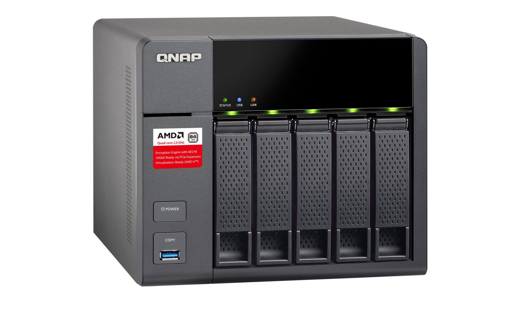 QNAP TS-563 – USB-3.0-Port in der Front
