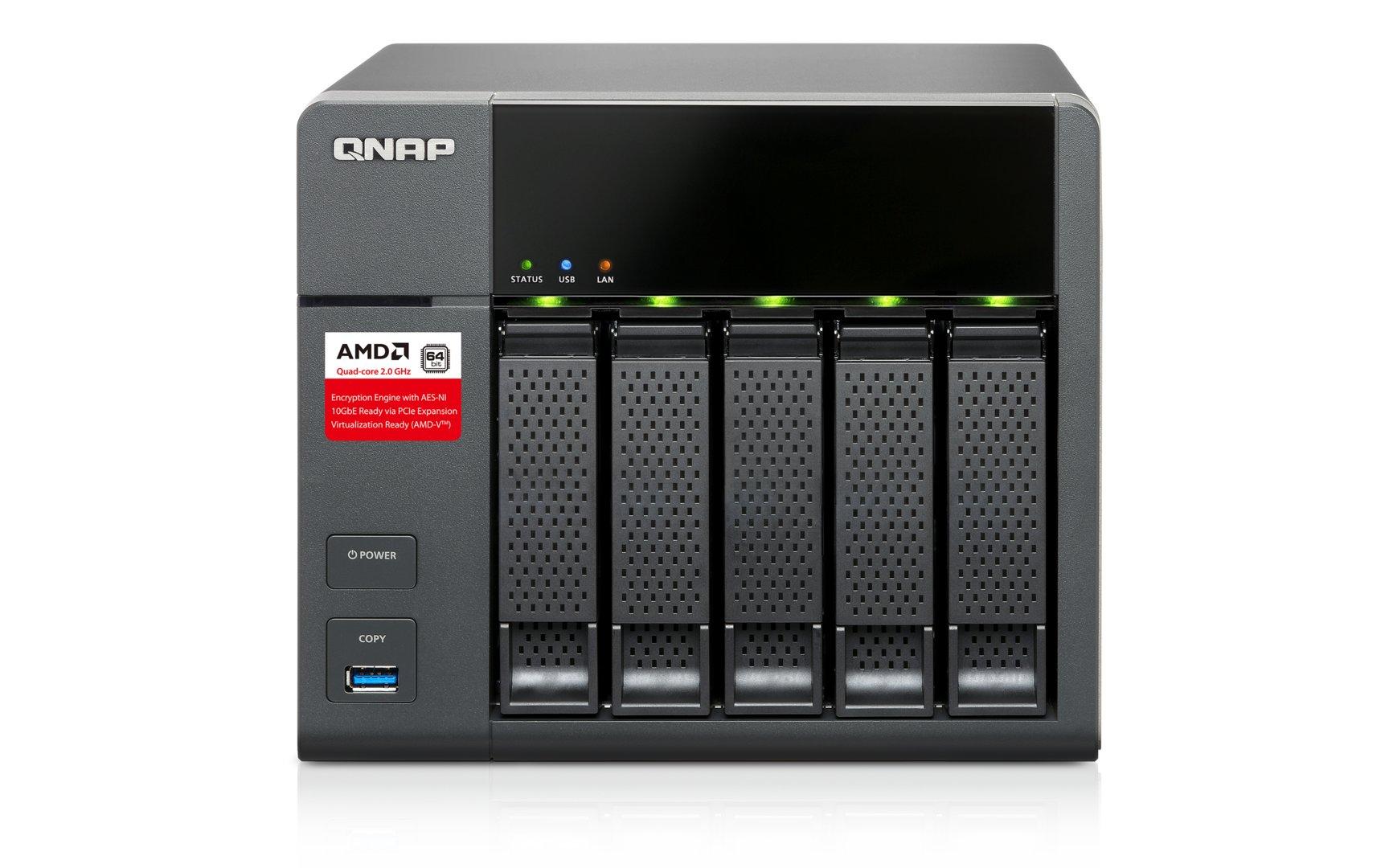 QNAP TS-563 – Status-LEDs für alle HDDs