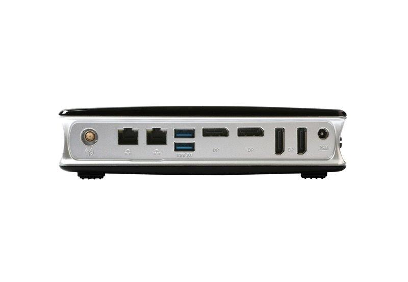 ZBox MA760 – Rückwertig angeordnete Anschlüsse, gleich vier DisplayPort-Anschlüsse