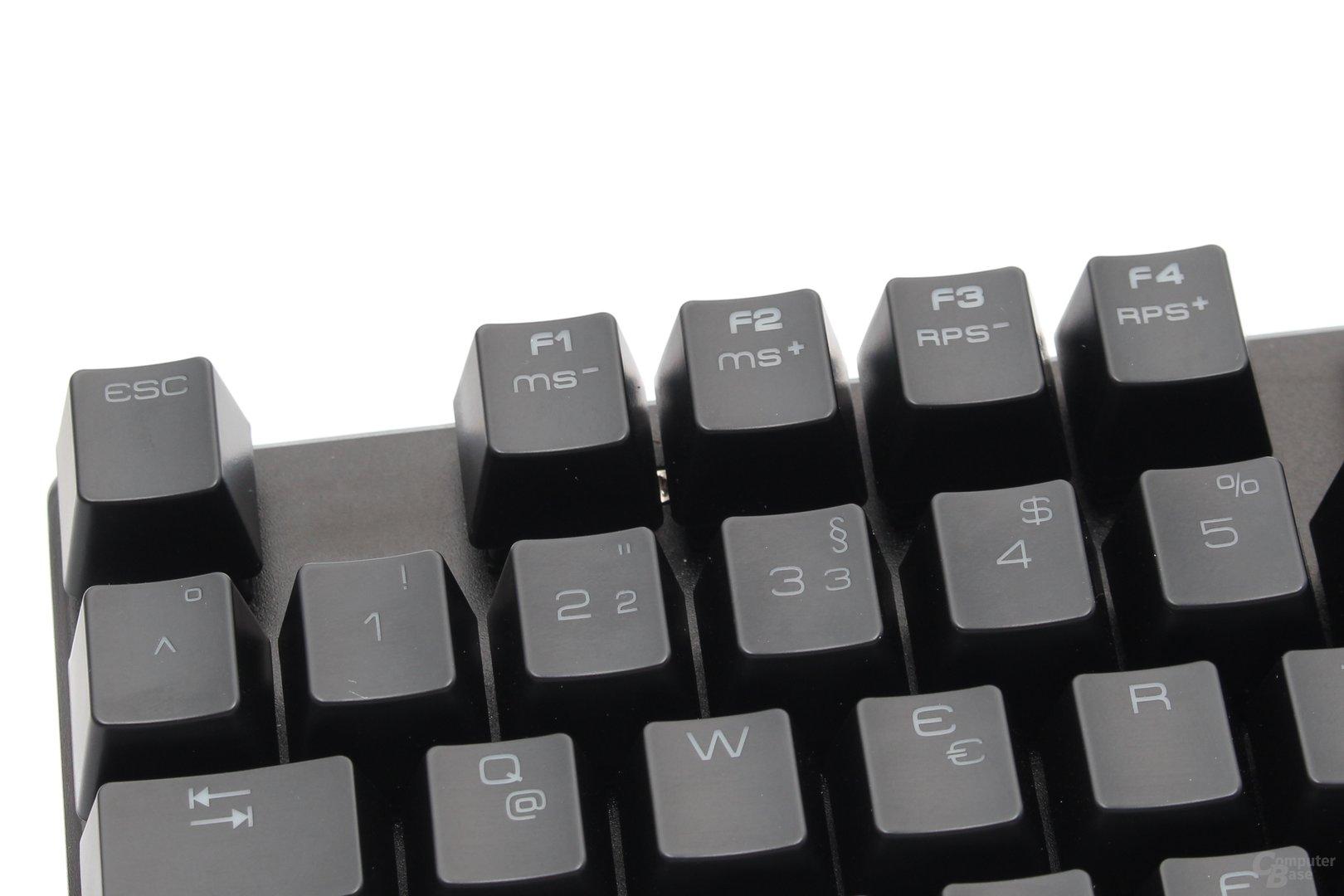 Repeat- und Pollingrate lassen sich direkt über die Tastatur konfigurieren