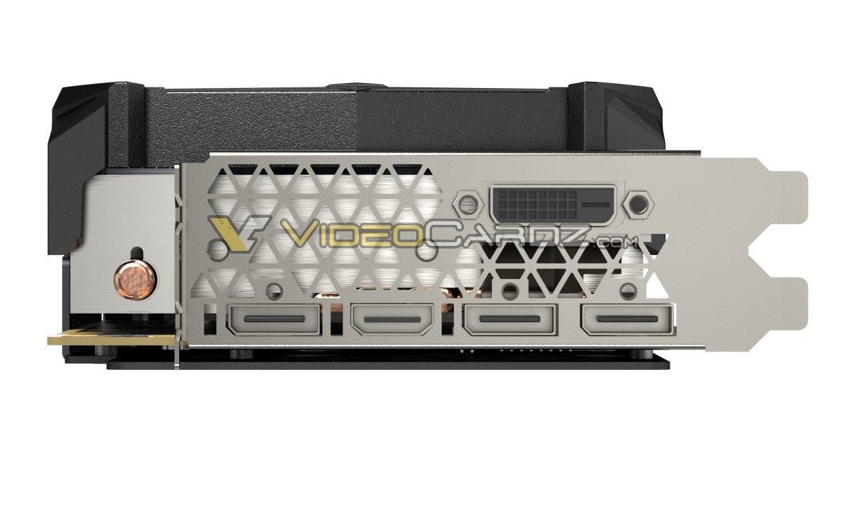Zotac GeForce GTX 980 Ti AMP! Extreme – Slotblech mit fünf Videoausgängen