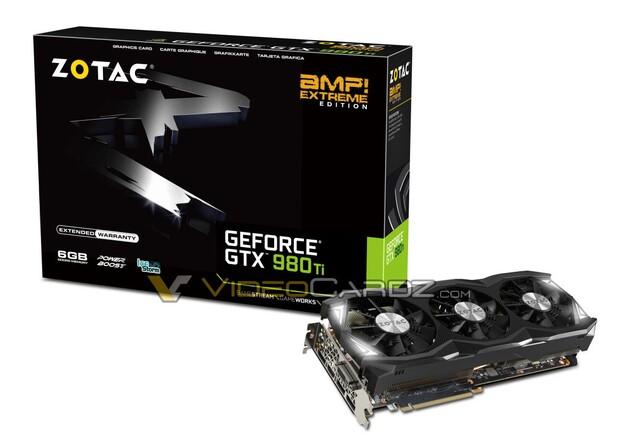 Zotac GeForce GTX 980 Ti AMP! Extreme – Flaggschiff-Modell mit Taktraten des Grafikchip von bis zu 1.355 MHz