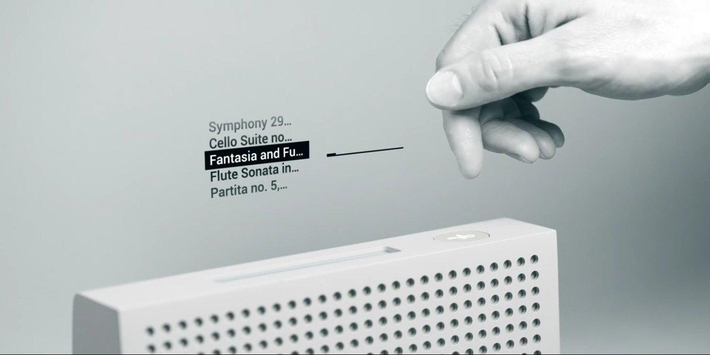Gestensteuerung eines Radios