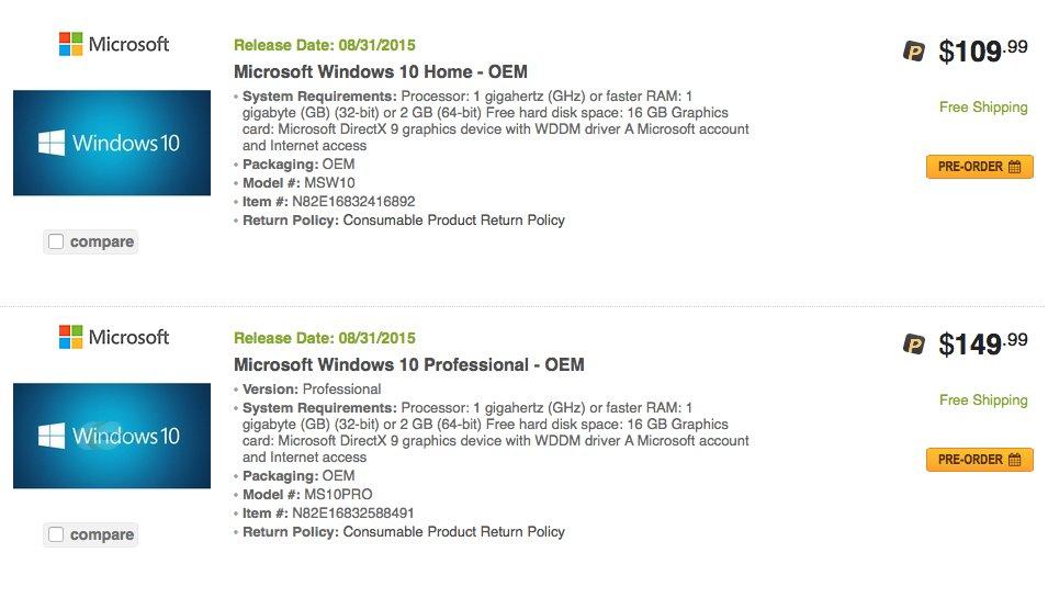 Windows 10 soll am 31. August zum Download bereitstehen