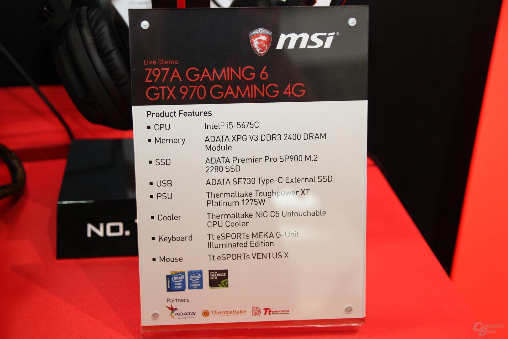 MSI-Desktop-System mit Quad-Core-Broadwell-CPU Core i5-5675C