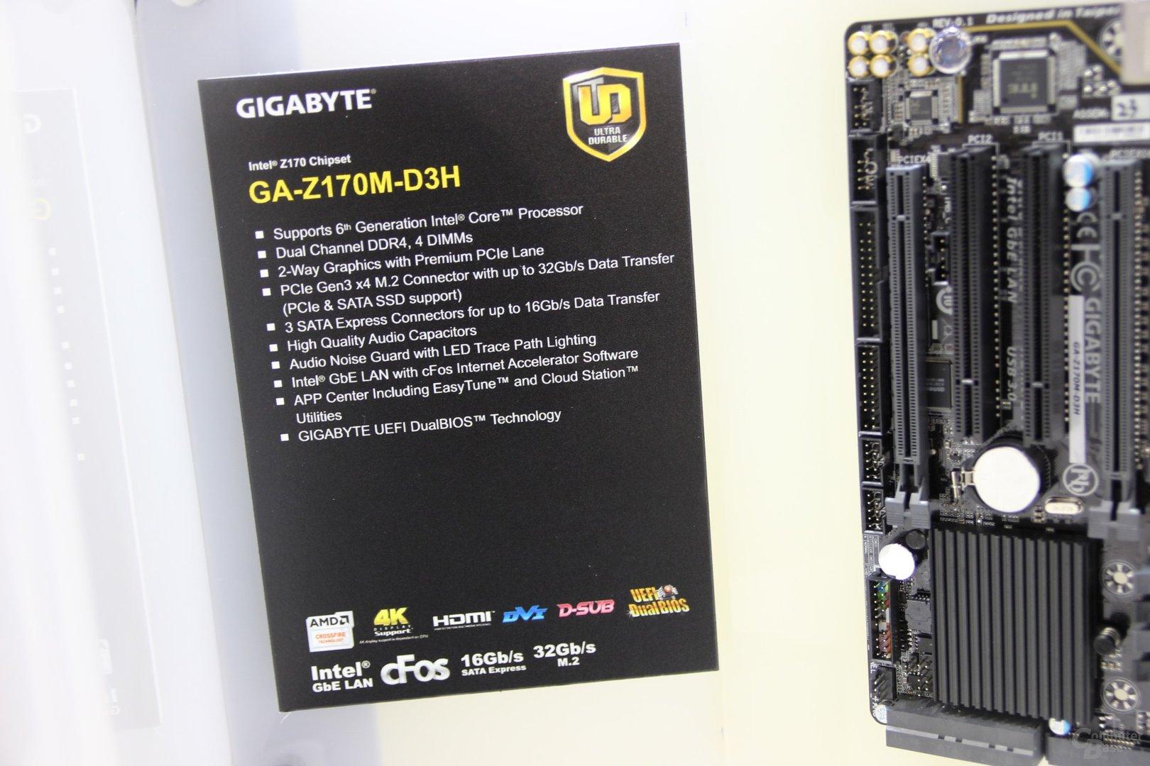 Spezifikationen des Gigabyte GA-Z170M-D3H