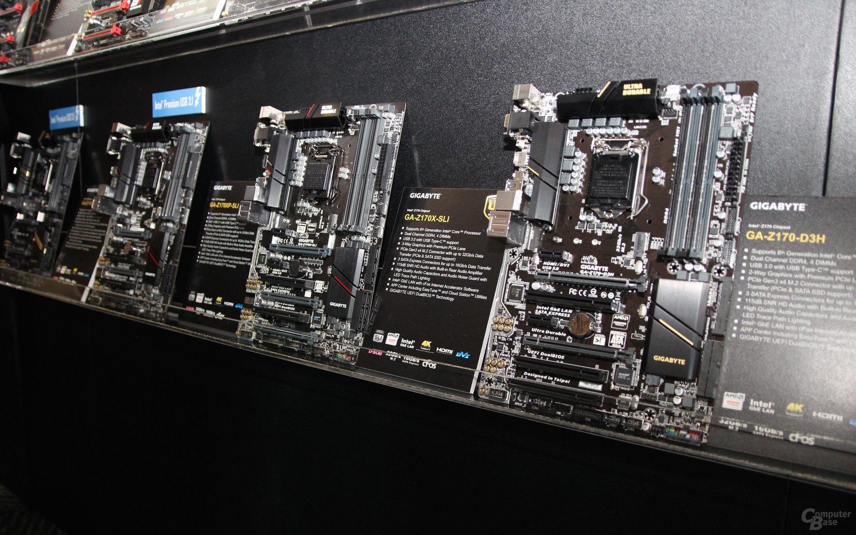 Gigabyte-Skylake-Mainboards zur Computex 2015