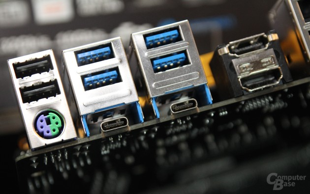 Thunderbolt 3 über USB Typ C bei Gigabyte