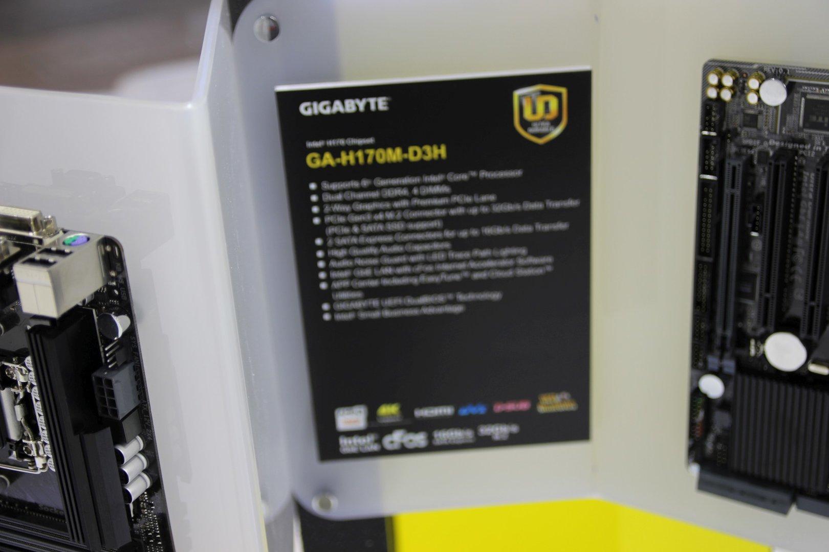 Spezifikationen des Gigabyte GA-H170M-D3H