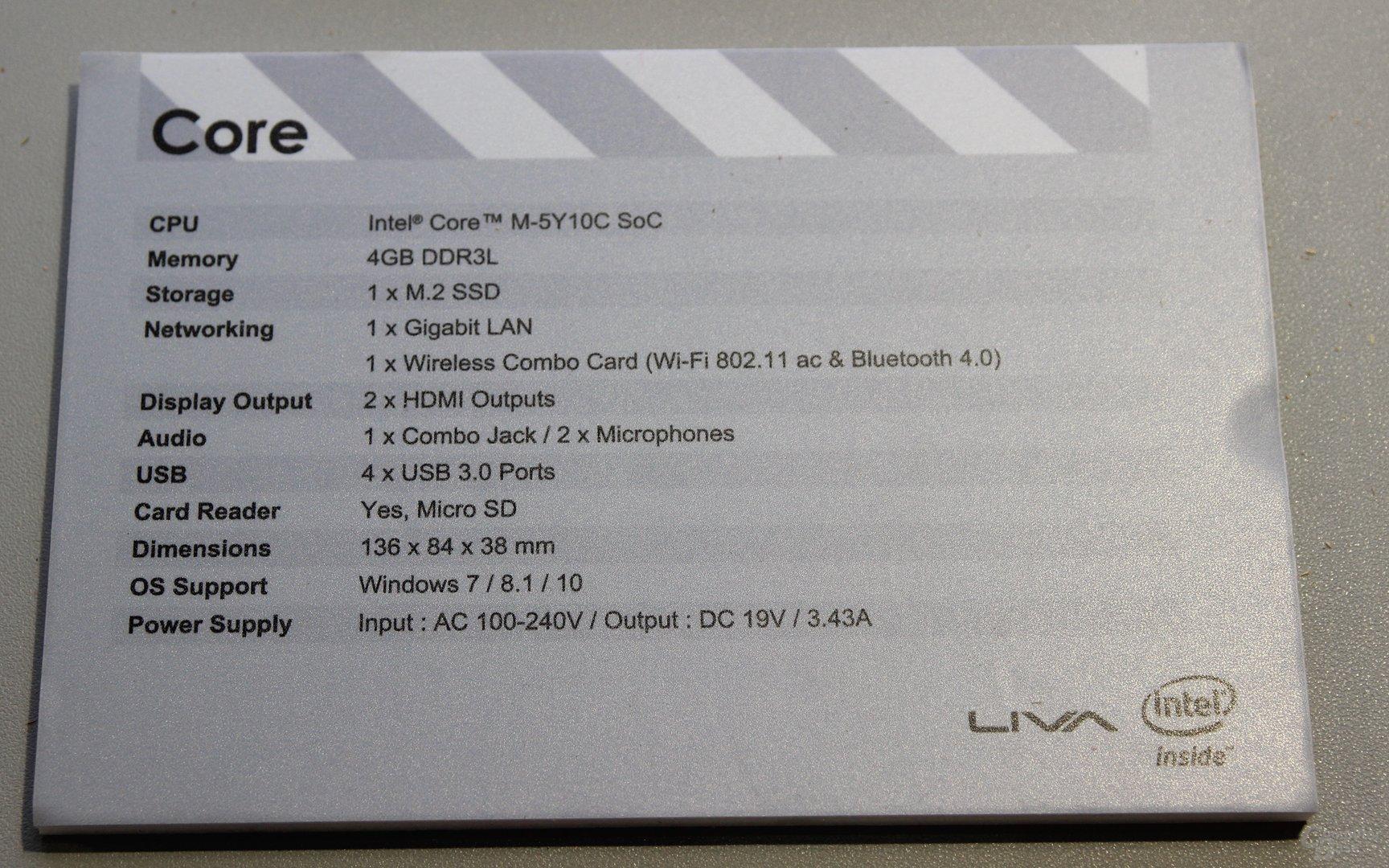 Elitegroup Liva Core