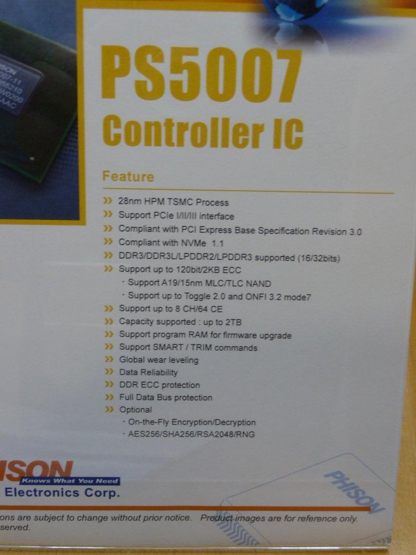 Datenblatt zum Phison PS5007