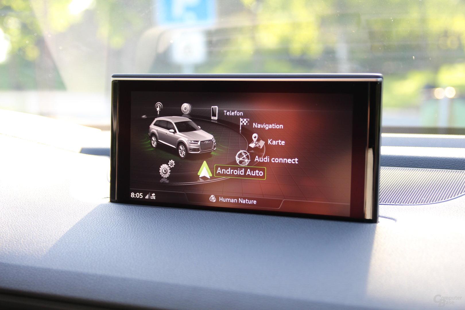 Android Auto als Menüpunkt