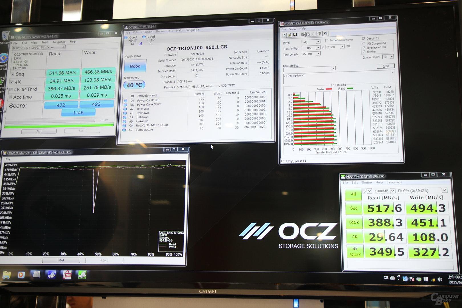 Benchmarks zur OCZ Trion