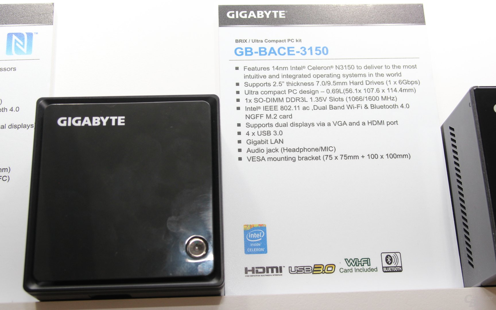 Gigabyte Brix GB-BACE-3150 mit Braswell-SoC