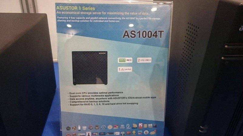 Asustor AS1004T mit vier Festplatteneinschüben und Dual-Core-SoC