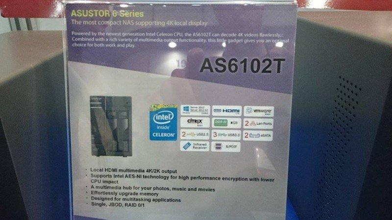 Asustor AS6104T mit Braswell-Celeron und erweiterbarem RAM