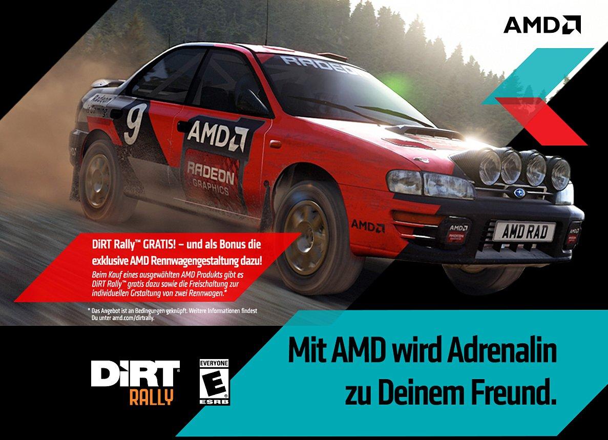 Dirt Rally: Das aktuelle Spielebundle von AMD