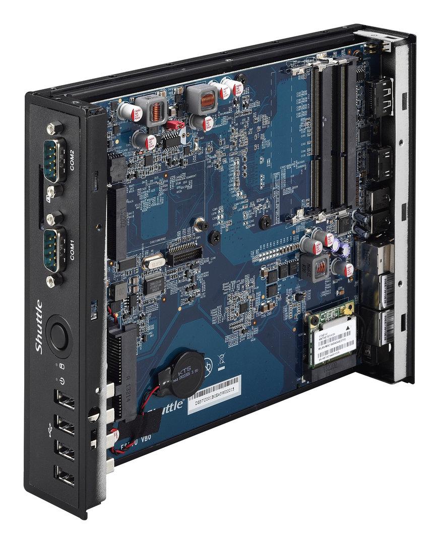 Shuttle DS57U7 – das FZ57-Mainboard hat auch einen Embedded DisplayPort zu bieten