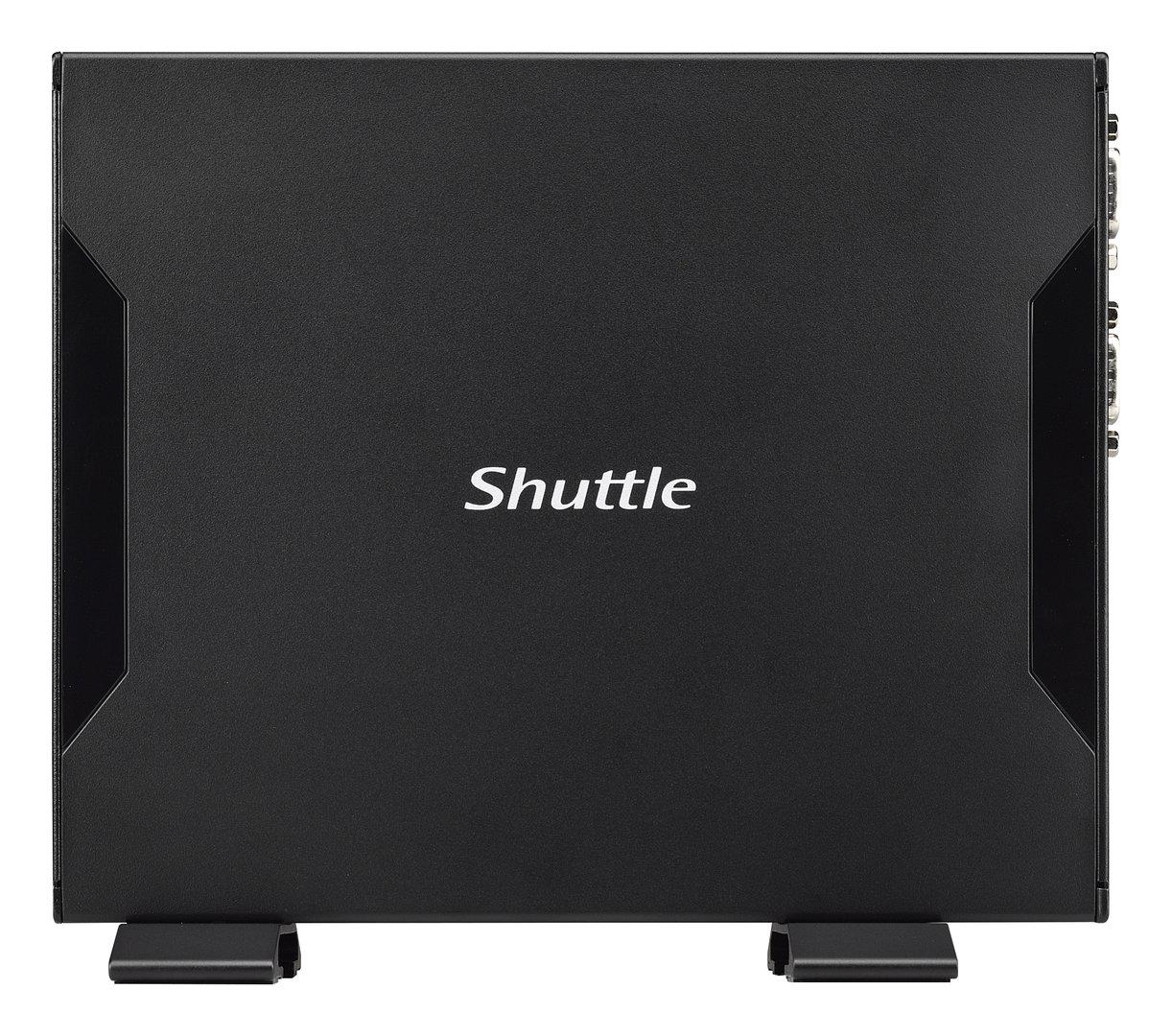 Shuttle DS57U7 – das Stahl-Gehäuse ist flach gehalten