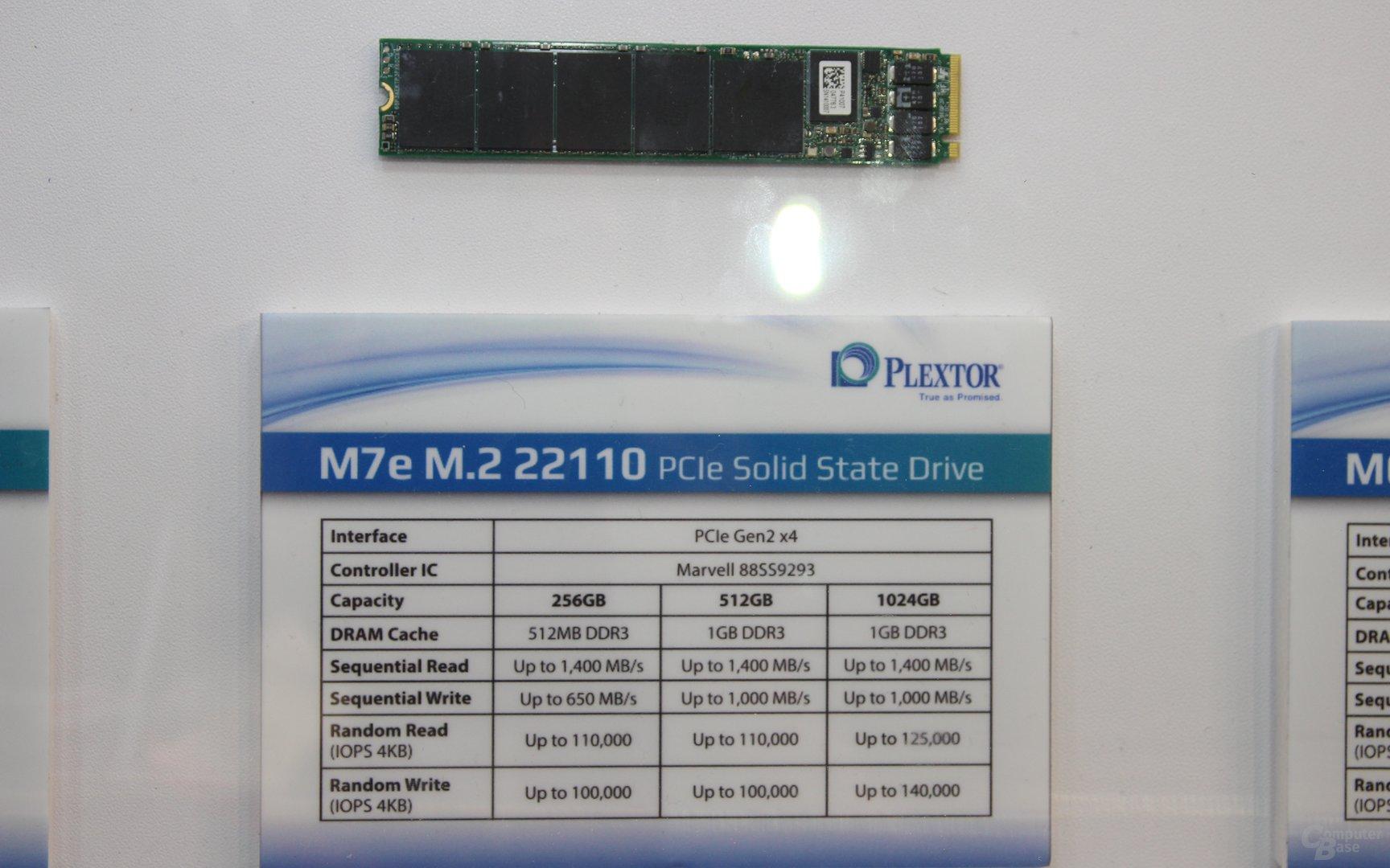 Plextor M7e im Format M.2 22110