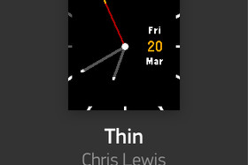"Watchface ""Thin by Chris Lewis"""