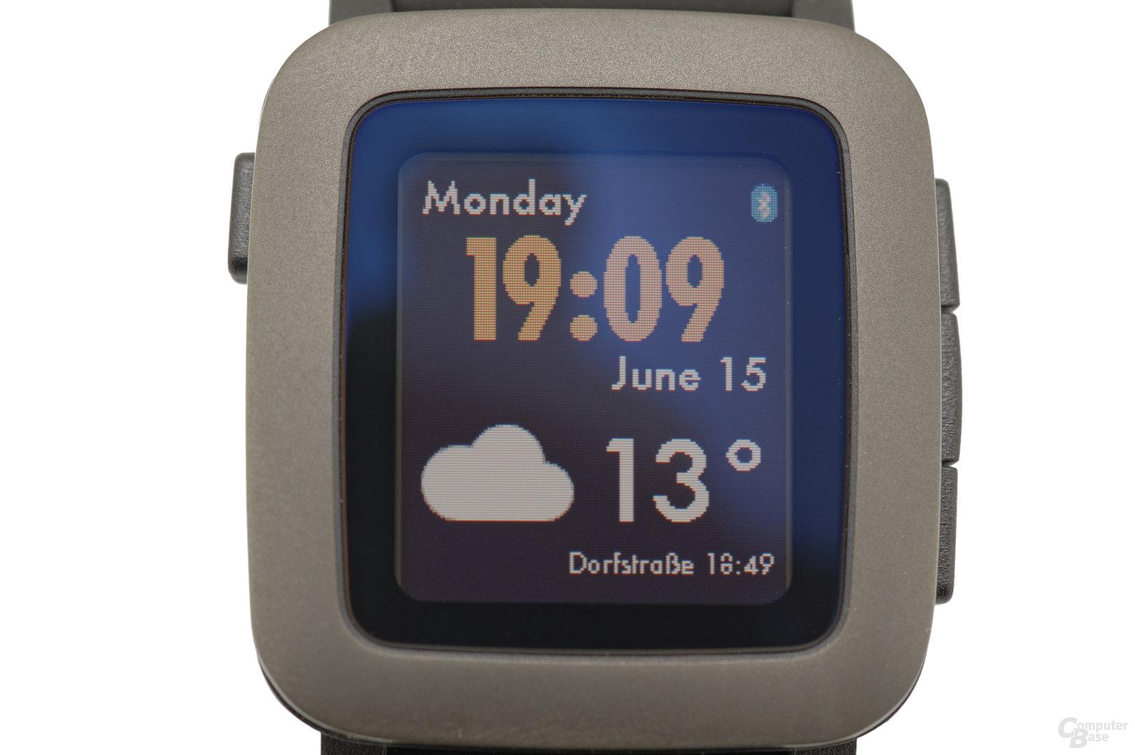 Pebble Time im Test – Display im Detail