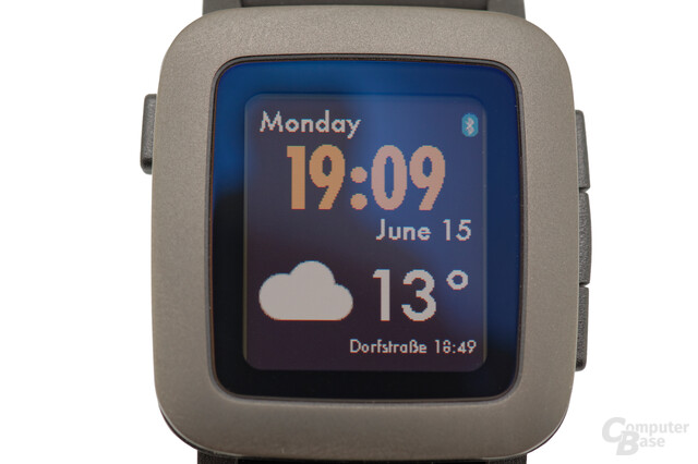 Pebble Time im Test – Display im Detail