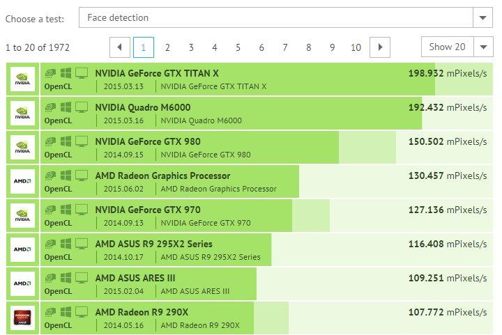 AMD Fiji Face Detection