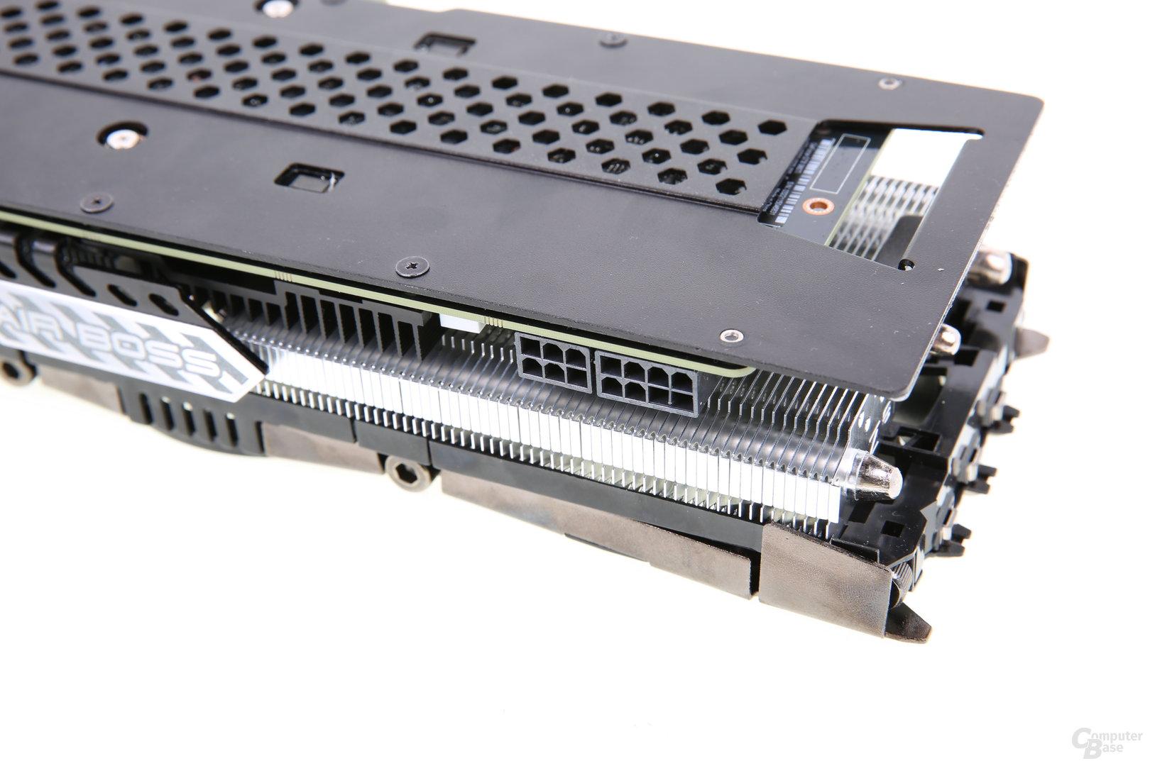 Inno3D GTX 980 Ti iChill X3 AirBoss - Stromanschlüsse